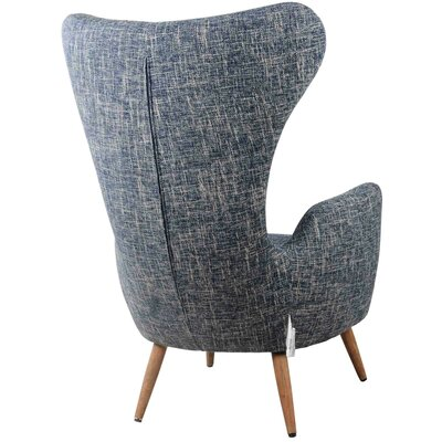 Trevor Fabric Wing back Chair Upholstery: Glaucous