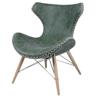 Ceylon Lounge Chair Color: Antique Green