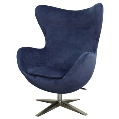 Max Swivel Lounge Chair Upholstery: Midnight Blue