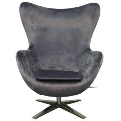 Max Fabric Swivel Rocker Lounge Chair