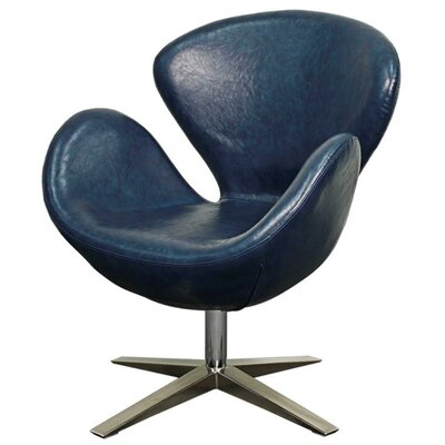 Beckett Swivel Armchair Upholstery: Distressed Blue