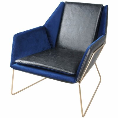Morgan Armchair Upholstery: Cobalt / Black