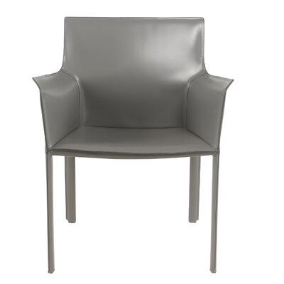 Gavon Recycled Leather Arm Chair Color: Anthracite
