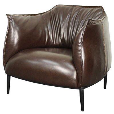 Chilton Armchair Upholstery: Distressed Dark Brown