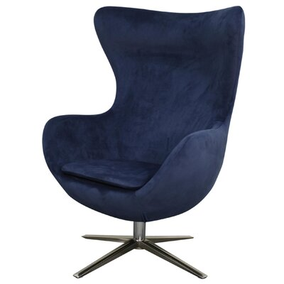 Finn Swivel Wingback Chair Upholstery: Midnight Blue