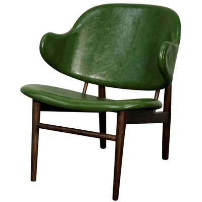 Doyle Armchair Upholstery: Distressed Green