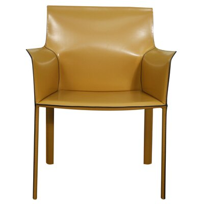 Gavon Recycled Leather Arm Chair Color: Chestnut