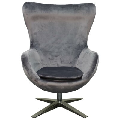 Finn Swivel Wingback Chair Upholstery: Shadow Gray
