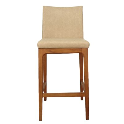 Devon 26.5 Bar Stool with Cushion Upholstery: Antique Tan