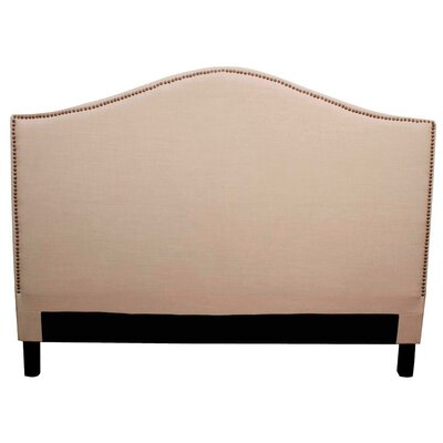 Chloe Upholstered Panel Headboard Size: King, Upholstery: Khaki