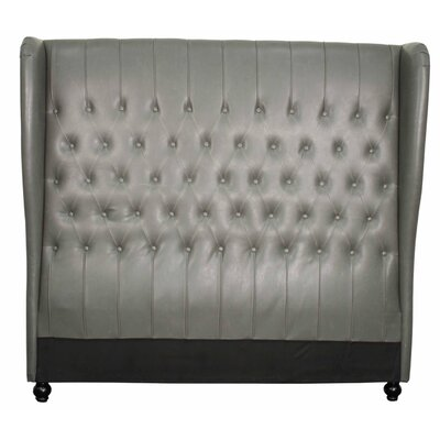 Alice Upholstered Wingback Headboard Upholstery: Vintage Gray, Size: King
