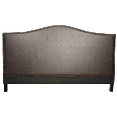 Chloe Queen Upholstered Panel Headboard Upholstery: Vintage Dark Brown
