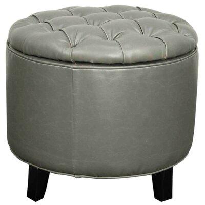 Evgenia Storage Ottoman Upholstery: Vintage Gray