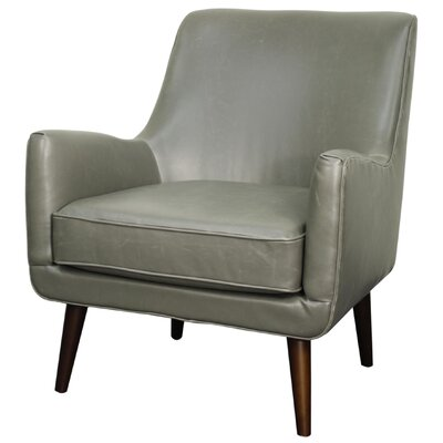 Zoe Bonded Leather Armchair Color: Vintage Gray