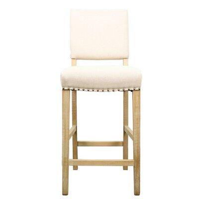 Arthur 27 Bar Stool with Cushion Upholstery: Light Sand