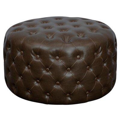 Lulu Round Tufted Ottoman Upholstery: Vintage Dark Brown