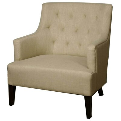 Corinne Armchair Upholstery: Flax