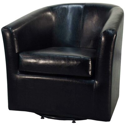 Teesha Barrel Chair Upholstery: Black