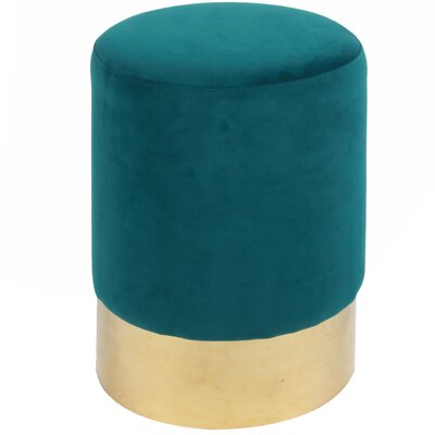 Oliver Round Ottoman Upholstery: Viridian / Gold