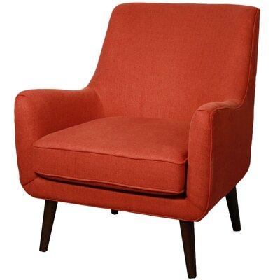 Zoe Fabric Armchair Color: Persimmon