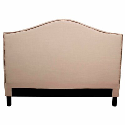 Chloe Upholstered Panel Headboard Size: Queen, Upholstery: Khaki