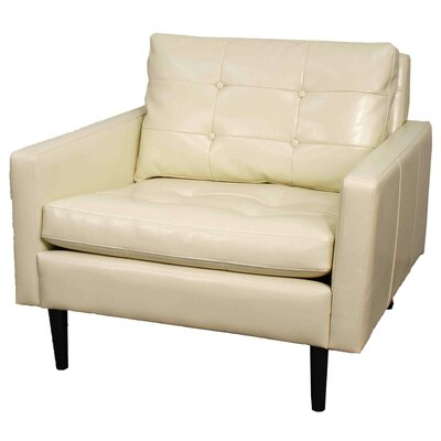 Ritchie Bonded Leather Arm Chair Color: Ivory