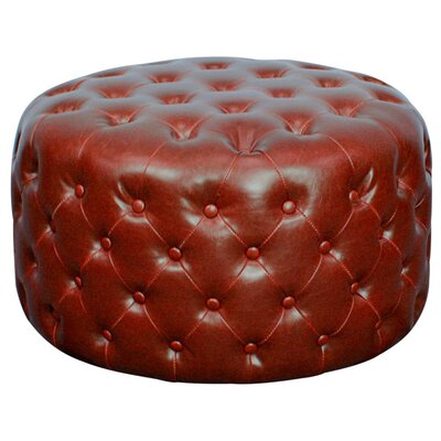 Lulu Round Tufted Ottoman Upholstery: Vintage Red