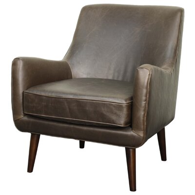 Zoe Armchair Upholstery: Vintage Dark Brown