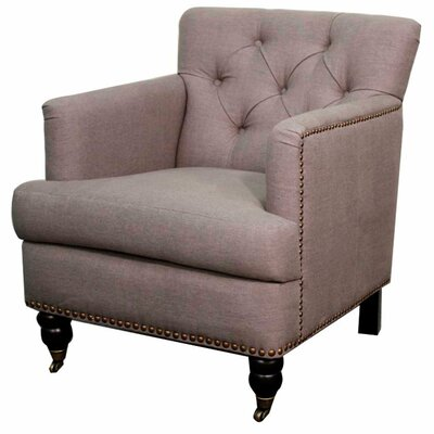 Nolan Fabric Armchair Color: Gunmetal
