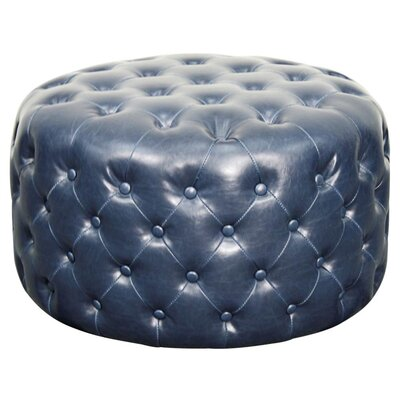 Lulu Round Tufted Ottoman Upholstery: Vintage Blue