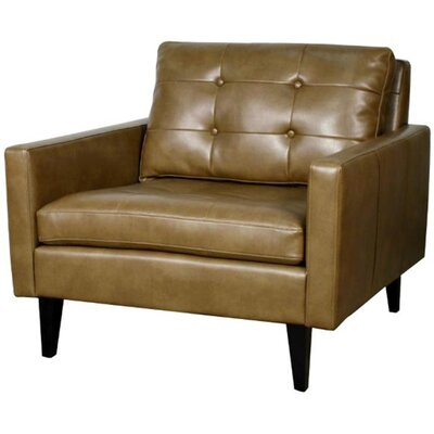Ritchie Bonded Leather Arm Chair Color: Molasses
