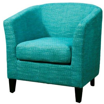 Sheri Barrel Chair Upholstery: Topaz Blue
