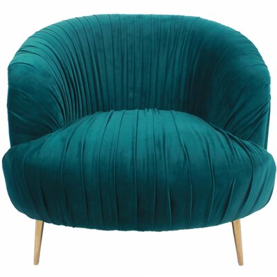 Alma Fabric Barrel Chair Color: Viridian