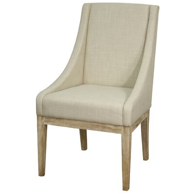 Houston Fabric Side Chair Finish: Natural