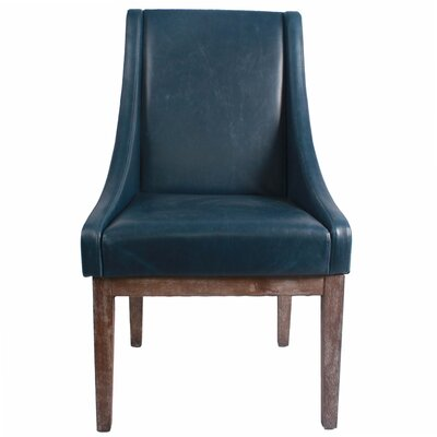 Houston Bonded Leather Side Chair Color: Vintage Blue