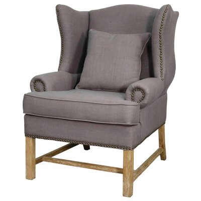 Ellery Fabric Armchair Color: Gunmetal