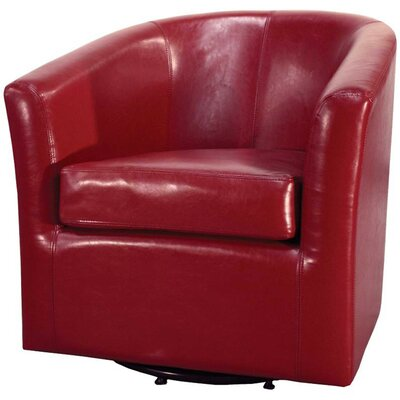 Teesha Barrel Chair Upholstery: Red