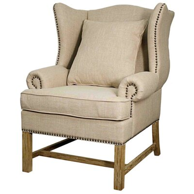 Ellery Fabric Armchair Color: Flax