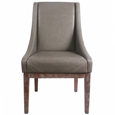 Houston Bonded Leather Side Chair Color: Vintage Gray