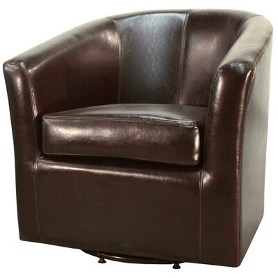 Teesha Barrel Chair Upholstery: Brown