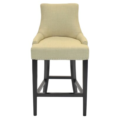 Minisink 26 inch Bar Stool with Cushion Upholstery: Linen