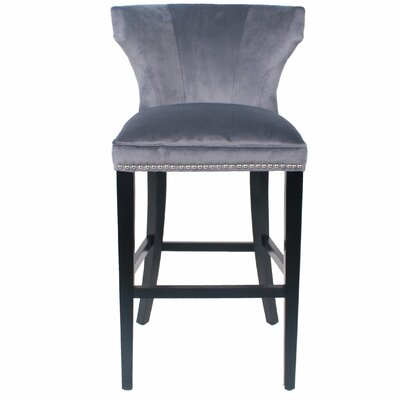 Dexter 30.5 Bar Stool with Cushion Upholstery: Midnight Gray