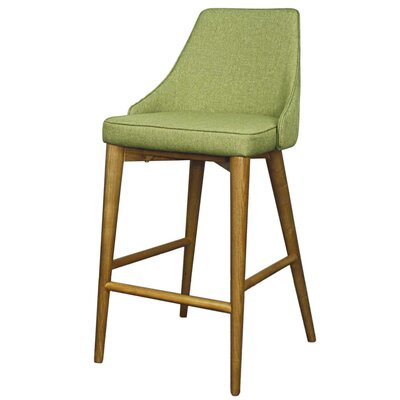 Erin 25.5 inch Bar Stool with Cushion Upholstery: Limerick