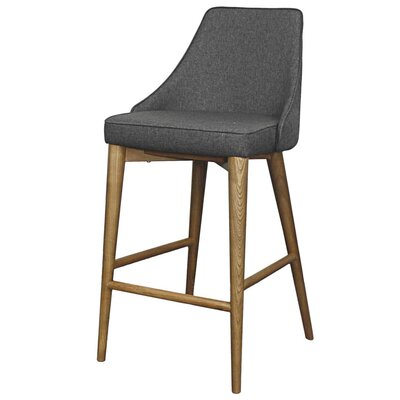 Erin 25.5 Bar Stool with Cushion Upholstery: Night Shade
