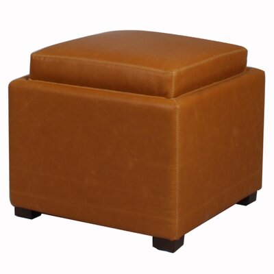 Jeddo Ottoman Leather Color: Vintage Caramel