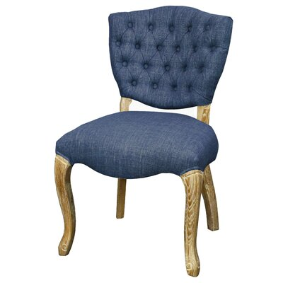 Adrienne Side Chair Color: Blue Coast