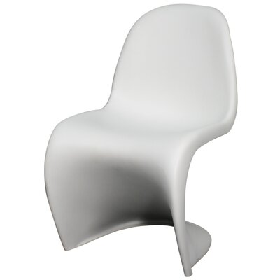 Groovy Molded Side Chair Color: White