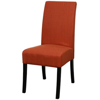 Valencia Fabric Side Chair Color: Persimmon