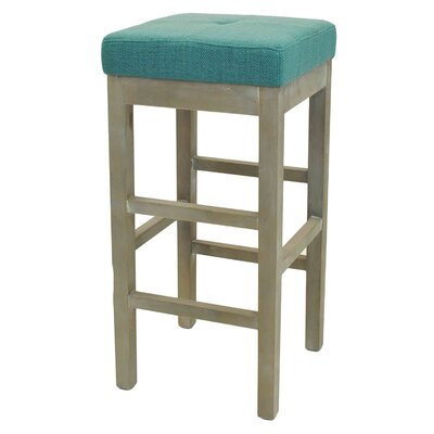 Kimberling 31 Bar Stool Upholstery: Aegean