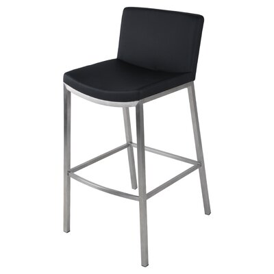 Eddard 30 Bar Stool Upholstery: Black